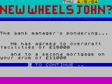New Wheels John? ZX Spectrum Money matters