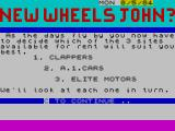 New Wheels John? ZX Spectrum What's your intended image?