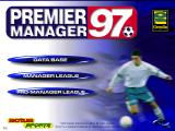 Premier Manager 97 Windows Title screen.