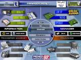 Premier Manager 97 Windows The Manager Menu is the heart of the game. From here you can access all other screens.