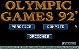 "International Athletics DOS Spanish version (""Olympic Games 92""): Title screen."