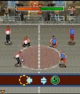 Underground Street Soccer J2ME Challenge mode - Hit the right button at the right time to succeed with a trick.