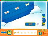 Caillou: Four Seasons of Fun Windows Throwing a snowball at the rhyming word