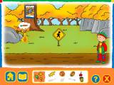 Caillou: Four Seasons of Fun Windows Exploring outdoors in the fall