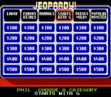 Jeopardy! NES Category board