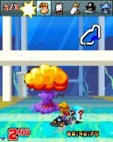 Rayman Kart J2ME The Nuke Bonus in action