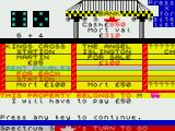 Automonopoli ZX Spectrum The game automatically identifies properties somebody else owns