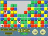 Clickenzee Windows Using coloured blocks, setting up a green combo