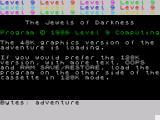 Jewels of Darkness ZX Spectrum 48K graphics Loading screen