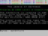 Jewels of Darkness ZX Spectrum 48K full text Loading screen