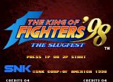 The King of Fighters '98: The Slugfest Neo Geo Title screen