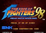 The King of Fighters '98: The Slugfest Neo Geo Title screen (Japanese version)