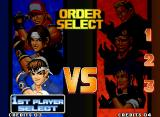 The King of Fighters '98: The Slugfest Neo Geo Setting the battle order.