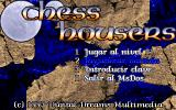 Chess Housers DOS Title screen and start menu