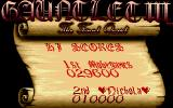 Gauntlet III: The Final Quest Amiga High-scores table