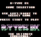 R-Type DX Game Boy Color Game selection.