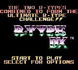 R-Type DX Game Boy Color R-Type DX menu screen
