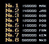 R-Type DX Game Boy Color High scores