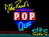Mike Read's Computer Pop Quiz ZX Spectrum Loading screen