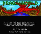 Dragonworld MSX Title screen