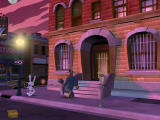 Sam & Max Episode 6: Bright Side of the Moon Windows In front of the office, but now at night