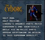 The Death and Return of Superman SNES The Cyborg Bio