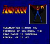 The Death and Return of Superman SNES The Eradicator Bio