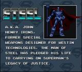 The Death and Return of Superman SNES Steel Bio