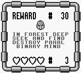 Monster Max Game Boy Mission objective and reward