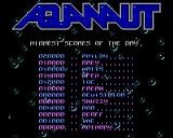 Aquanaut Amiga Title screen and high-score table