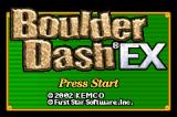 Boulder Dash EX Game Boy Advance Title screen