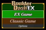 Boulder Dash EX Game Boy Advance Start menu