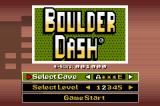Boulder Dash EX Game Boy Advance Classic game - Title screen