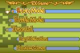 Boulder Dash EX Game Boy Advance EX game menu