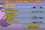 Boulder Dash EX Game Boy Advance Battle mode options