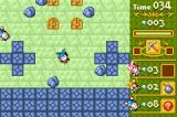 Boulder Dash EX Game Boy Advance There's a power-up that turns the level on its side