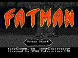 Tongue of the Fatman Genesis Title screen.