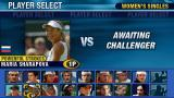 Virtua Tennis: World Tour PSP Character select in Tournament mode