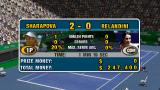 Virtua Tennis: World Tour PSP Sharapova vs. Relandini match results.