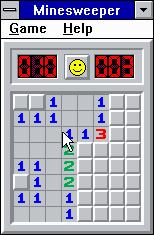 Microsoft Windows 3.1 (included games) Windows 3.x Minesweeper - So far so good