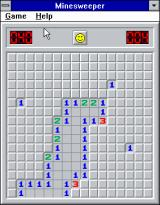 Microsoft Windows 3.1 (included games) Windows 3.x Minesweeper - A larger minefield, for Intermediate mode