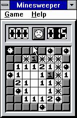 Microsoft Windows 3.1 (included games) Windows 3.x Minesweeper - Did you know you can play it in monochrome?