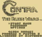 Contra III: The Alien Wars Game Boy Title Screen
