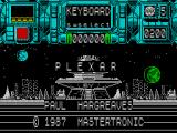 Plexar ZX Spectrum Main menu