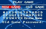 Bill & Ted's Excellent Adventure Lynx New game / Password screen