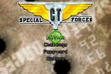 CT Special Forces Game Boy Advance Start menu