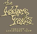 The Addams Family: Pugsley's Scavenger Hunt Game Boy Title Screen