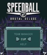 Speedball 2: Brutal Deluxe J2ME Options screen with various game modes