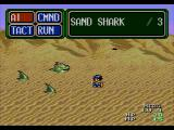 Lunar: Eternal Blue SEGA CD A battle with sand sharks.