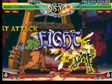 Darkstalkers 3 PlayStation Victor's match against Zabel Zarock (Lord Raptor) starts with the power of a fast-and-furious punch!